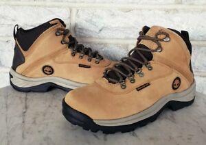 Timberland Mens White Ledge WP Hiking Work Boots Size 9.5 M Wheat 14176