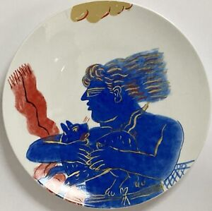 "Set of 6 Bernardaud ""Mythologie"" 27cm Porcelain Plates by Alecos Fassianos 30222"