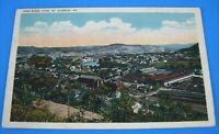Warren Pennsylvania Postcard Bird's Eye View of the Town Old vintage 1910s card