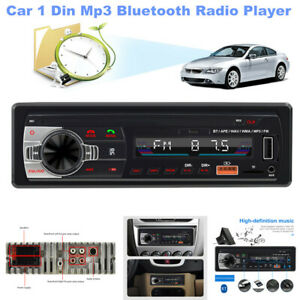 Car 1 Din Mp3 Bluetooth Hands-Free Radio USB Lossless Music Player 4 Channel