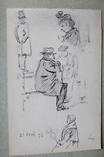 NOE LEGRAND ALBUM DE DESSINS 1892/1894/1895 PARIS PORTRAITS DE PARISIENS