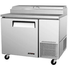 "Turboair TPR-44SD 44"" Commercial Refrigerated Pizza Prep Table Cooler"