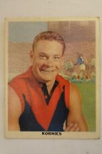 Melbourne Carlton VFL-AFL 1950's Rare Kornies Large Card Ron Barassi