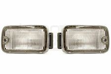 NISSAN JDM 180SX S13 KOUKI FRONT CLEAR BUMPER LAMP SQUARE PAIR LEFT & RIGHT OEM