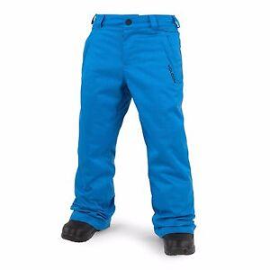 NWT YOUTH BOYS VOLCOM EXPLORER INSULATED SNOWBOARD PANTS $100 M cyan blue