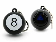 MAGIC BLACK 8 BALL KEYCHAIN 45MM NOVELTY GAMES TOY TRICK GAG FORTUNE TELLER KIDS