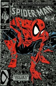 SPIDER-MAN #1 BOTH SILVER & RED COVERS MCFARLANE & X-MEN #186 BARRY SMITH-MINT