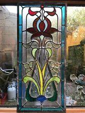 3 vitraux style art nouveau