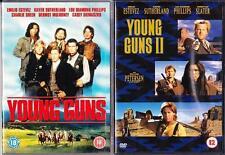 YOUNG GUNS 1 & 2 Blaze Of Glory Estevez*Sutherland*Sheen Cult Western DVD *EXC*