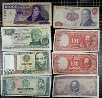 Chile Peru Argentina South America Bank Note lot World Currency Peso Escudo