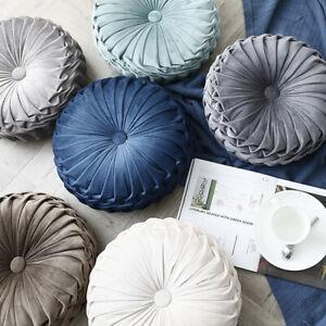 Sofa cushions lumbar cushion pillow circular pleats wheel pillow pumpkin