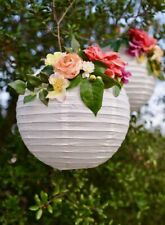 Us 10Pcs White Paper Lantern Wedding Round Shade Grad Party Ceiling Decor 10""