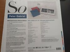 """PETER GABRIEL """" SO  """" 4 CD /2 DVD/LP/12"""" / 60 PAGE BOOK """" DELUXE  SEALED BOX SET"""