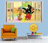 BING Rabbit Sula 3D Effect Window Wall View Sticker Poster Mural Decal Art 53