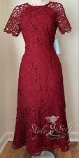 Antonio Melani Penny Lace Short Sleeve Midi Dress NWT Size 0, 2, 4, 6