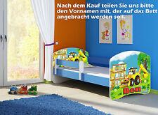 Jugendbett Kinderbett mit einer Schublade und Matratze 160x80  BLAU