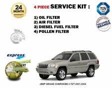 FOR JEEP GRAND CHEROKEE 2.7DT 2001-2004 OIL AIR FUEL POLLEN 4 FILTER SERVICE SET