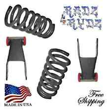 "2004-2014 Ford F150 2""-3"" Drop F Lowering Coils Springs R Shackles Lowering Kit"