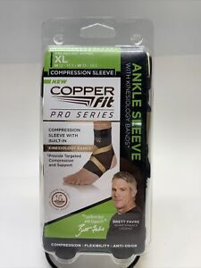Copper Fit Pro Series Performance Compression Ankle Sleeve Size XL