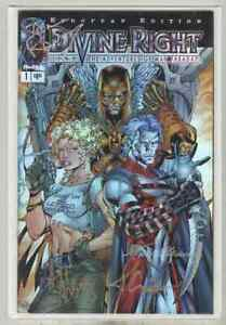 Divine Right #1 NM- 1997 European Edition, Signed, Chrome Cover