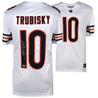 MITCHELL TRUBISKY Autographed Chicago Bears Nike White Limited Jersey FANATICS