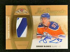 2015-16 UD Fleer Showcase CONNOR McDAVID Hot Prospects ROOKIE AUTO PATCH RC /299