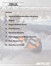 2012 Arctic Cat Bearcat 570 Z1 F5 F570 TZ1 snowmobiles repair service manual CD