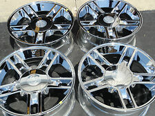 "Fits 20"" Ford F150 Harley Davidson Wheels Chrome 3410 Set of 4 Rims & Caps"