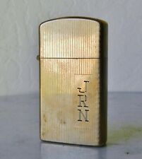 Vintage 10K Gold Filled Zippo Slim Cigarette Lighter 1959 Tooled Case
