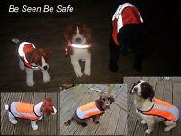 Hi Vis Reflective Lined Water Resistant Hi Viz Dog Safety Vest Coat Jacket