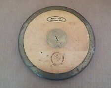 Vintage Track & Field Made In Sweden Lindesberg Wood Iron Discus Diskus