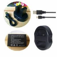 Battery /Charger for Canon LP-E12 EOS M M2 M10 M50 M100 100D / PowerShot SX70 HS