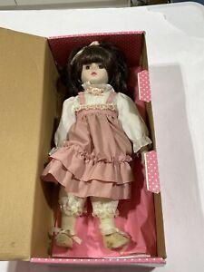 "Vintage Brinn's 1986 Musical Porcelain Doll 14"" plays ""Romeo and Juliet"""