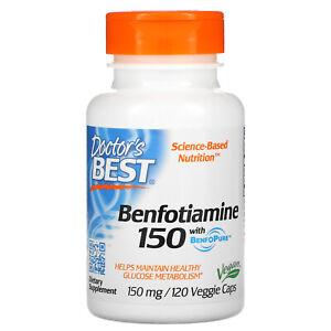 Doctor s Best Benfotiamine with BenfoPure 150 mg 120 Veggie Caps Gluten-Free,