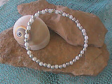 Beaded Ankle Bracelet Pearl and Silver