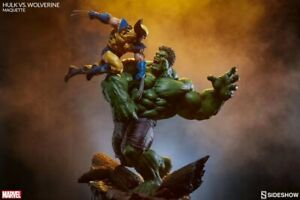 Sideshow Marvel Hulk VS Wolverine Exclusive  Maquette. limited 2500 US SELLER