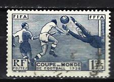 France 1938 3ème Coupe mondiale de football Yvert n° 396 oblitéré 1er choix (3)