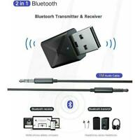 USB Bluetooth 5.0 Transmitter Wireless Audio Stereo Adapter Dongle Receiver Fast