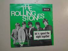 """ROLLING STONES: Let's Spend The Night Together-Ruby Tuesday-Belgium 7"""" Decca PSL"""