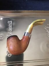 RARE BARLING MOUNTED EB WB ESTATE PIPE & AMBER STEM