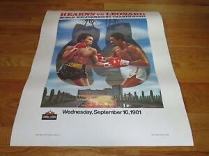 Sept 16 1981 WELTERWEIGHT Championship Poster SUGAR RAY LEONARD vs THOMAS HEARNS