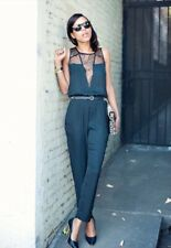 ZARA BLACK ,SMART JUMPSUIT WITH LACE PLAYSUIT DRESS BNWT Sold Out Bloggers !!!!
