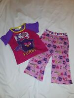 Furby Girls PJ Set Size 4/5 GUC. T-shirt and Pajama Pants