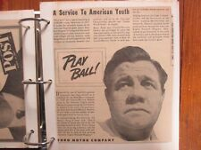 Album/140 Sporting News Ads/BABE RUTH/MICKEY MANTLE/DiMaggio -BAT, GLOVE Ads etc