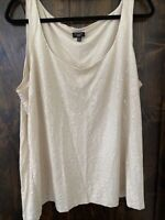 TALBOTS WOMAN SIZE 3X Blouse Cream with Sequins NWOT