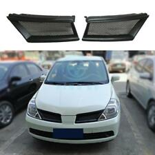 Resin Grille Grill Vent Hole Trim Matte Black For Nissan Tiida/ Versa 2005-2007