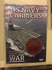 US NAVY CARRIERS WEAPONS OF WAR DVD AND BOOKLET Fast Free Shipping