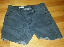 Womens GAP Legging Jean Shorts Gray & Black 26/2 1969 Size