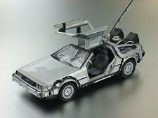 Welly Retour vers le Futur DeLorean LK Coupe 1981 1/24 Voiture Miniature - Gris