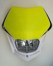 Mascherina Faro Anteriore Rtech Headlight V-FACE Bianco - Giallo Fluo Universale